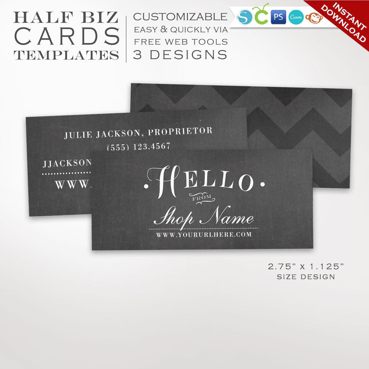 Business card template chalkboard mini business card design zoom magicingreecefo Choice Image