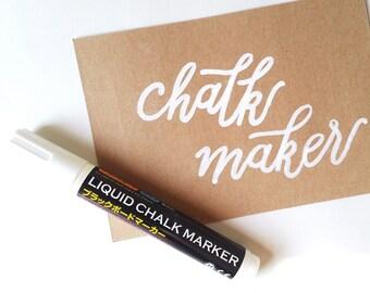 White Liquid Chalk Marker, White Marker Pen for Blackboards and Glasses