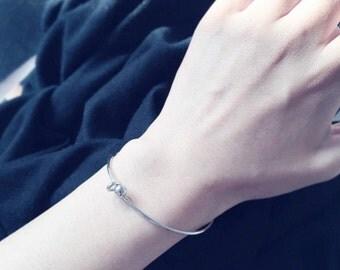 Gold or silver slide on ball bangle - slide on bracelet