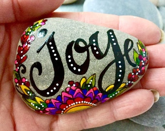take joy / painted rocks / painted stones / paperweights / rock art / hand painted rocks / hand held art / happiness / follow your bliss
