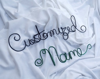 Personalized Wire Name Sign