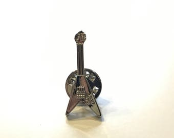Guitar Lapel Pin, Guitar Body Lapel Pin, Guitar Body Tie Pin, Guitar Tie Tack, Guitar Tie Pin, Music Tie Tack, Father's Day, Guitar Pin