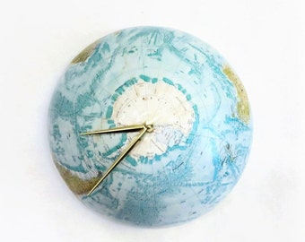World Globe Wall Clock, Ready To Ship,  Vintage Replogle Globe Wall Clock,  Home and Living, Home Decor, Decor and Housewares