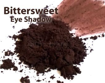 Bittersweet Vegan Eye Shadow - Cruelty Free Mineral Eye Shadow- 3g of product in a 10g sifter jar