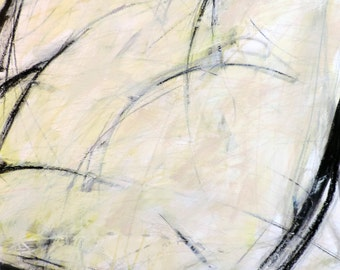 1-6-17b (abstract expressionist painting, black, pastel, white, ivory, cream)