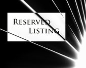 RESERVED LISTING only for Matthew Jochums