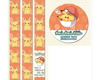 Diary Scrapbook Adhesive Masking Deco Washi Tape - Pokemon Pika Pika Chu (2 cm Width)