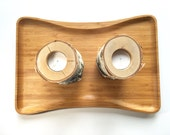 Birch candle holder, wood...