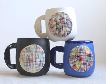 Kaleidoscope Mug Rainbow Mug Porcelain Mug Ready to Ship