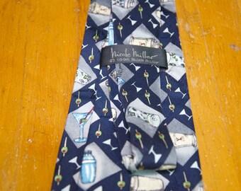 Authentic Nicole Miller Silk Martini Tie