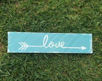 Custom Reclaimed Painted Wood Sign