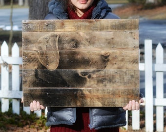 Pet Gift • Photo to Wood • Custom Pet Photo on Reclaimed Wood