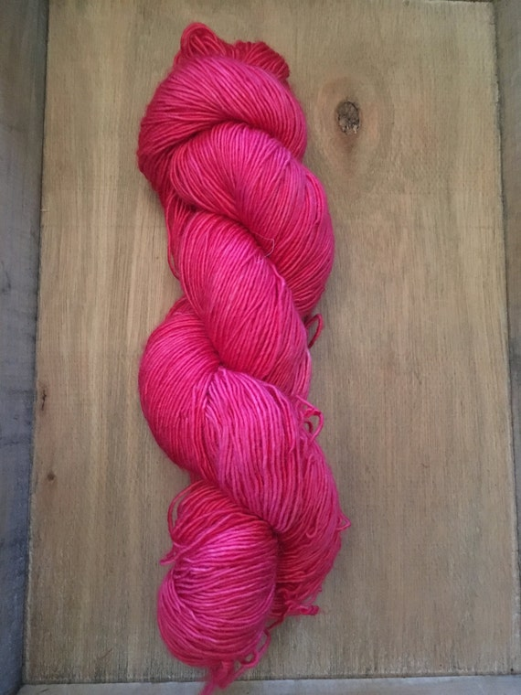 Merino Light Singles - fingering weight yarn - merino light singles yarn- hand dyed merino light single ply- Red