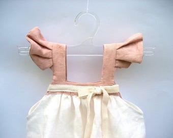 dress Alice nice dress, pink baby dress, organic baby girl dress
