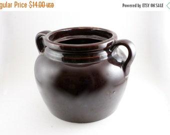 20% OFF Sale 60's Vintage Bean Pot, Crock Pot, Bean Pot, Mid-Century Cookware, Mid-Century Pottery