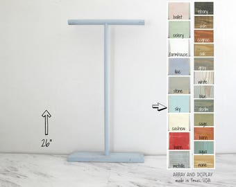 T-bar Necklace Displays, Jewelry T-Bar 26-inch, Wood Necklace Displays, Jewelry Stands, Necklace Holders Stands, Retail Fixtures