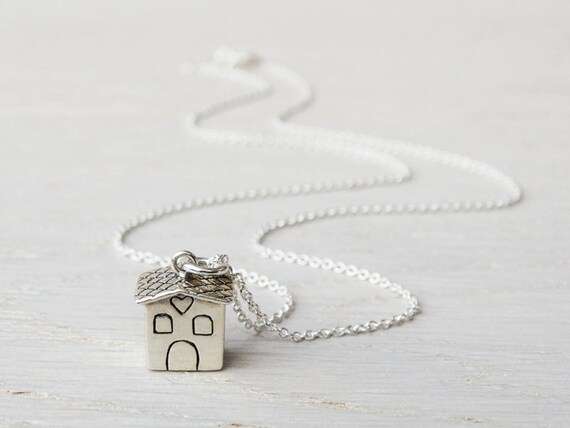 Silver House Necklace - Sterling Silver