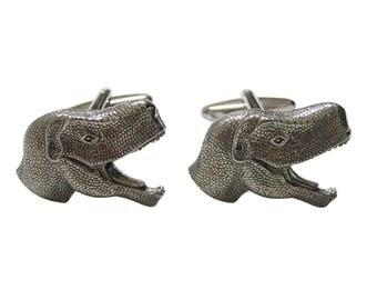 Textured Dinosaur Head Cufflinks
