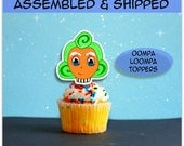 Oompa Loompa Cupcake toppers fully assembled