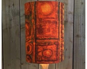 Extra Tall Orange Mid Century Modern Fabric Lamp Shade Light shade