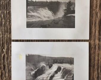 Pair of Original Vintage Photographs The River Wild