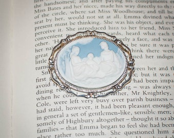Jane Austen/ Regency Style Three Dashwood Sisters Lady Cameo Brooch: Choose Your Color
