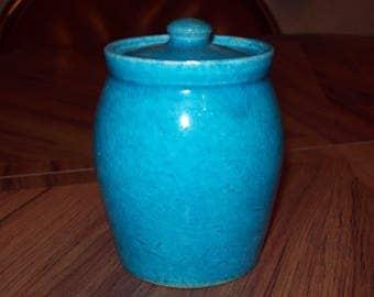 Blue Jar with Lid