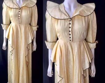 Avant garde 1930s evening gown