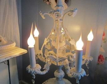Candelabra Lamp,Elegant Beauty, Shabby Chic, French Country,Hollywood Regency, Eclectic, One of a Kind, Antique