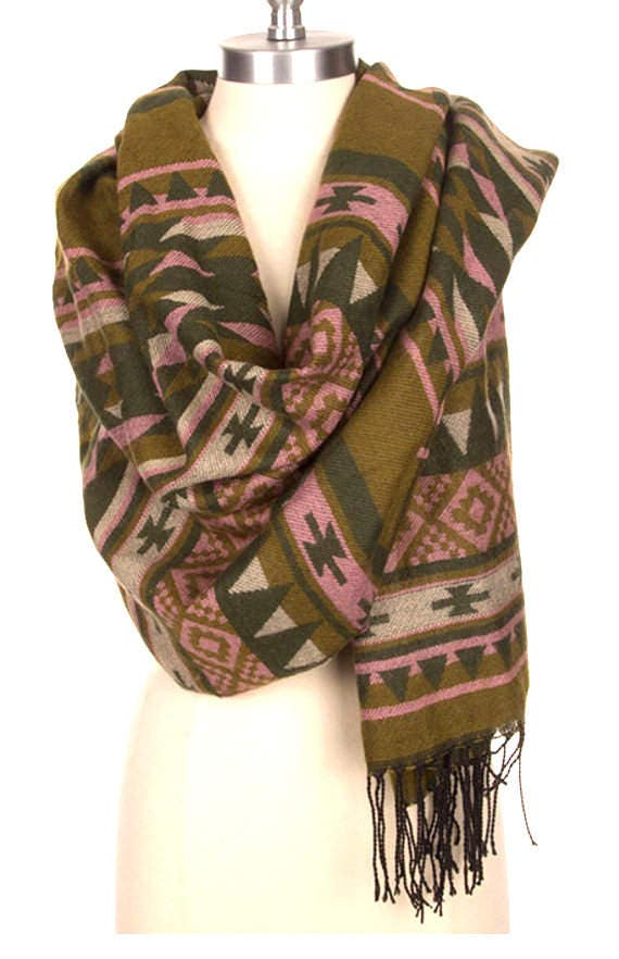 Scarf For Mens Most Popular Aztec Print Thick Winter By Piyoyo