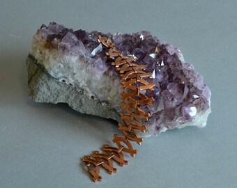 Vintage Copper Bracelet Renoir Copper Bracelet Mid Century Bracelet Organic Copper Bracelet Criss Cross Bracelet Linked Copper Bracelet
