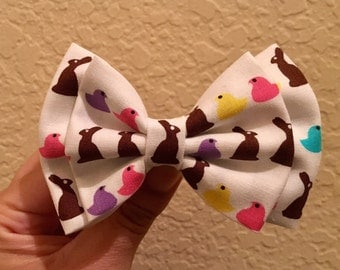 Easter peep hair bow