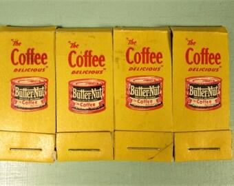 Hosiery Mending Kit - Vintage Butter Nut Coffee Advertising Purse Travel
