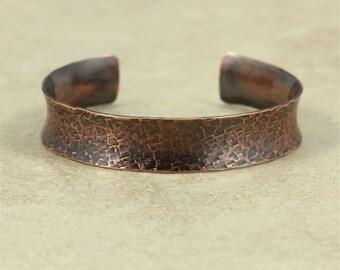 Hammered Copper Cuff Bracelet, Copper Bracelet, Anticlastic Bracelet, Hammered Copper, Hammered Cuff, Hammered Bracelet, Rustic Cuff