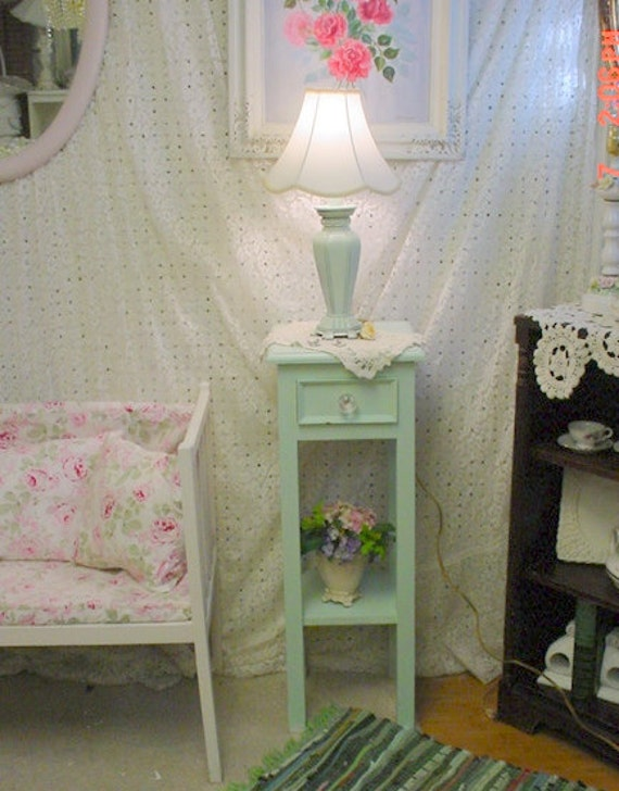 Painted Table Green Chalk Paint Shabby Chic French Country