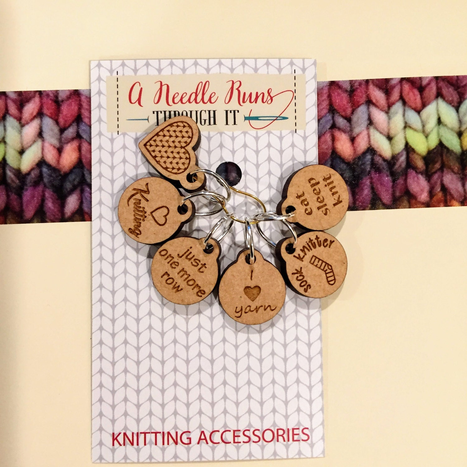 I love knitting Stitch markers set sock knitter knitter