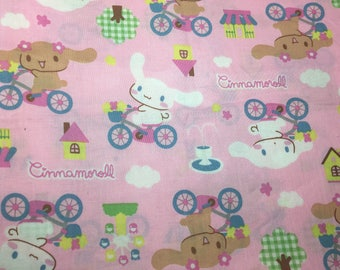 Half Meter Sanrio Japan Cinnamoroll Pink Kawaii Fabric