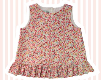 Girl's Liberty of London Ruffle Swing Top | Phoebe