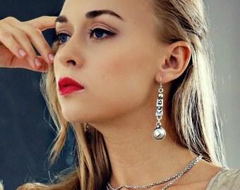 Abelie Silver Earrings Dangle Earrings Boho Jewelry