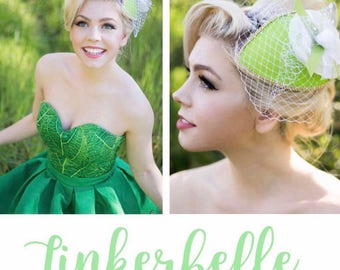 Fly Away to Neverland-Tinkerbell Inspired Fascinator