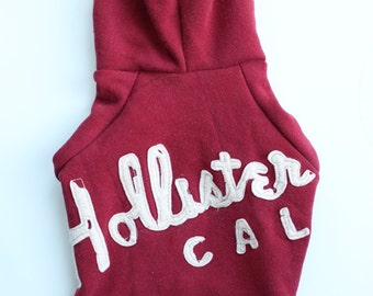 Cherry Red Hollister Hoodie Upcycled S/M