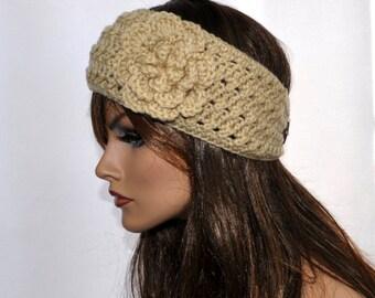 Crochet Headwrap,  Handmade Accessory for her, S#2 in Buff