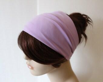 Lavender Mauve Easter Purple Turban Head Wrap, Workout Headband, Women's Yoga Headband, Turband Womens Gift for Her Hair Accessories