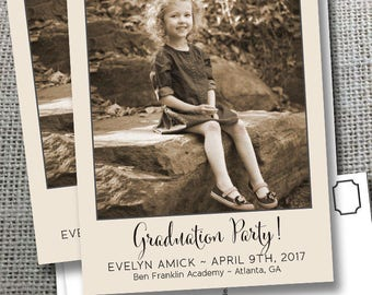 Graduation Save the Date Thank You Reunion Vows Anniversary Birthday New Year Baptism Holiday Photo Magnets Postcards Cards Vintage Photo