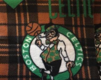 Boston Celtics Plaid Basketball Fleece Sports Baby Blanket