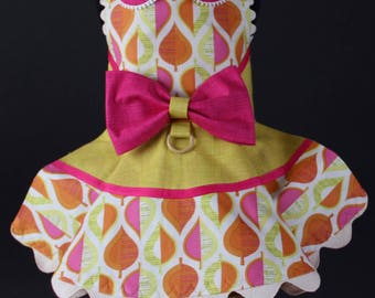 SAMPLE SALE:  Fall Leaves Dog Dress