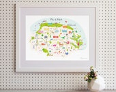 Map of Norfolk Art Print
