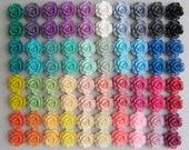 80 pcs Resin Flower Cabochons - 40 Gorgeous Matte Colors - 13.5mm Camellias