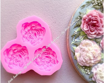 Beautiful flower silicone mold