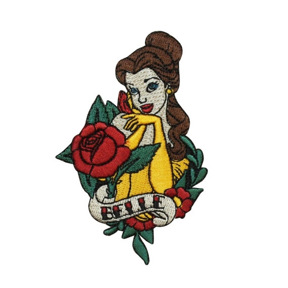"Disney Princess ""Belle"" Iron-On Patch Beauty & The Beast"